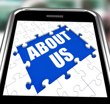 About Us Smartphone Shows Contact And Website Information