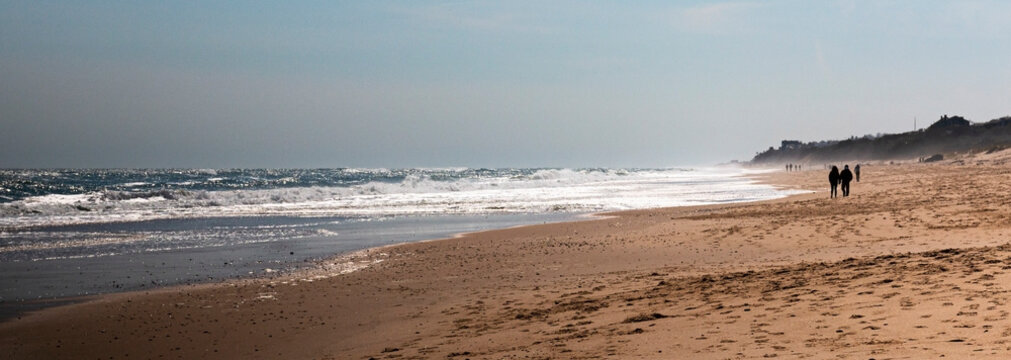Montauk Beach on a cool April day