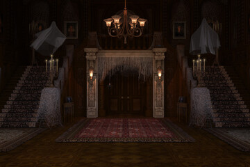Obraz Haunted Mansion background / backdrop.  - fototapety do salonu