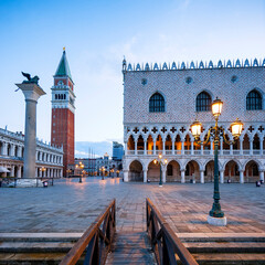 San Marco square in the morning