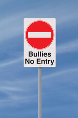 Fototapeta Anti-Bullying Road Sign obraz