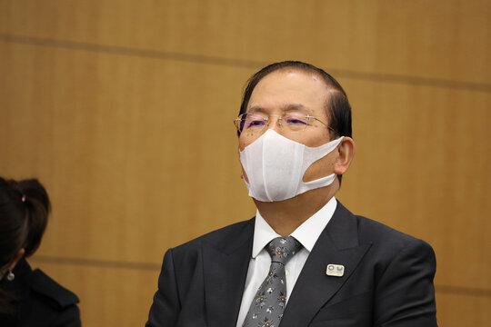 World Athletics President Sebastian Coe Meeting with Tokyo 2020 President Mori Yoshiro