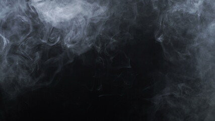 Video of smoke electronic cigarette on black background