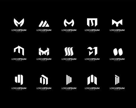 Letter M Logo collection. modern design. vector ilusstration