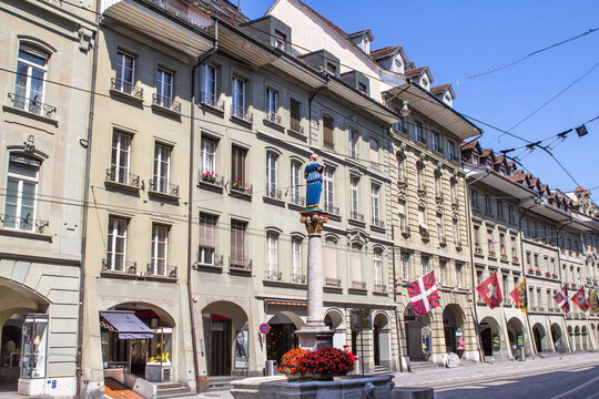 Marktgasse street in Bern, Switzerland