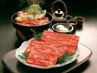 神戸牛のすき焼