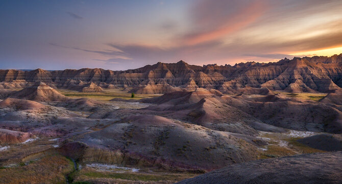 Painted Hills in the South Dakota Badlands