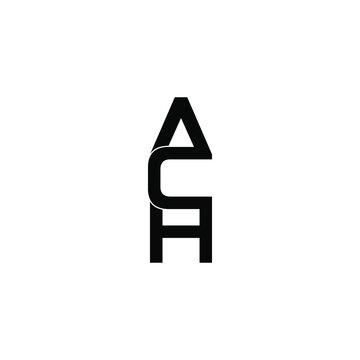 ach letter original monogram logo design