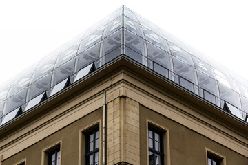 symmetrical glass roof, berlin