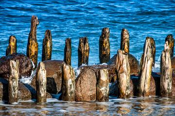 Wooden breakwater