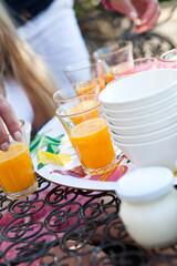 Printed kitchen splashbacks Juice Orange juice