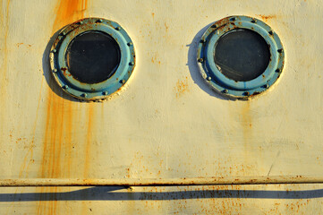 Portholes on the old ships