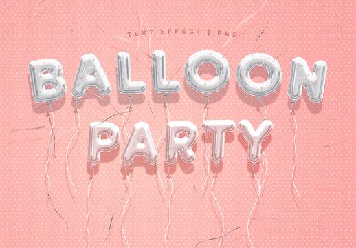 Balloon Text Effect Mockup