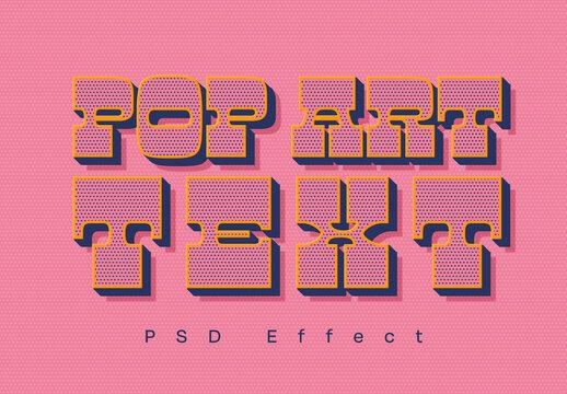Pop Art Text Effect Mockup