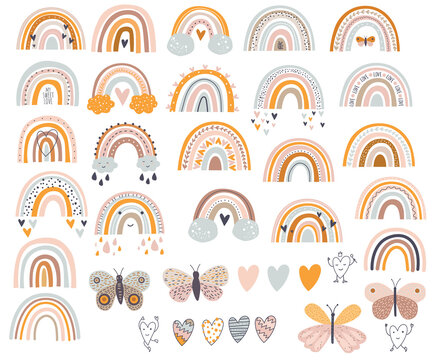 Rainbow clipart svg/ svg Rainbow digital / Color clipart Baby / Rainbow nursery vector