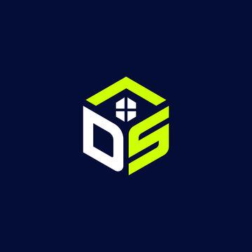 DA Letter Real Estate Logo and Icon Design Vector and Icon and Website Favicon