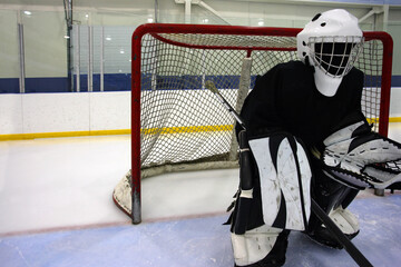 Mysterious goalie