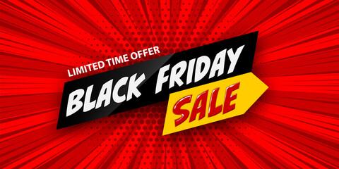 Photo sur Plexiglas Dinosaurs 3d comic book cartoon black friday sale banner
