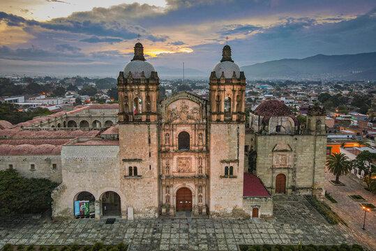 Church Sunset in Oaxaca City, Mexico