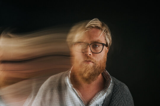 Man with Motion Blur