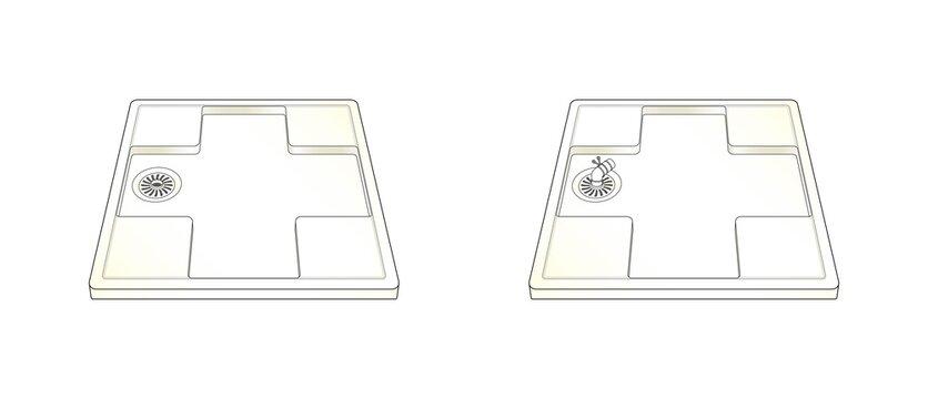 排水パン 洗濯パン 洗濯機置き場 エルボ トラップ パイプ 住まい 賃貸 AI 物件 イラスト