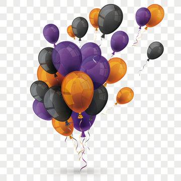 Orange Purple Balloons Grape