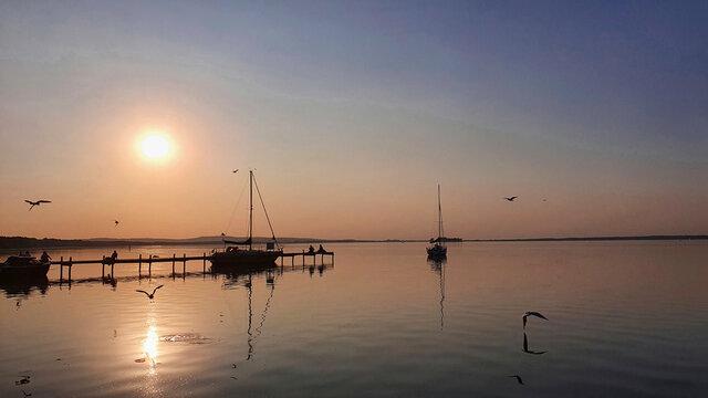Sonnenenuergang am Steinhuder Meer