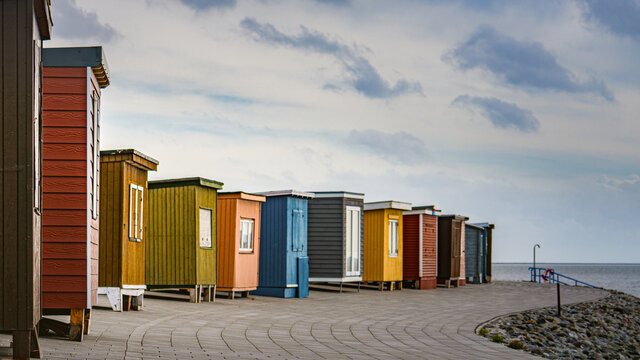 Umkleidekabinen am Nordseedeich