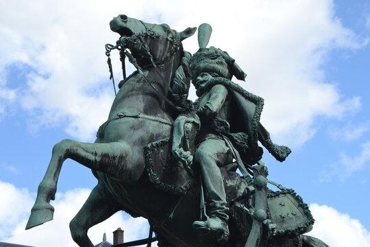 Statue de Lassale dans le parc du château de Lunéville