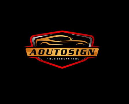 Vector Car Logo icon symbol. automotive modification and service .Auto detailing logo concept