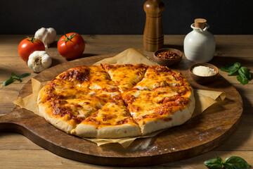 Homemade Italian Cheese Pizza