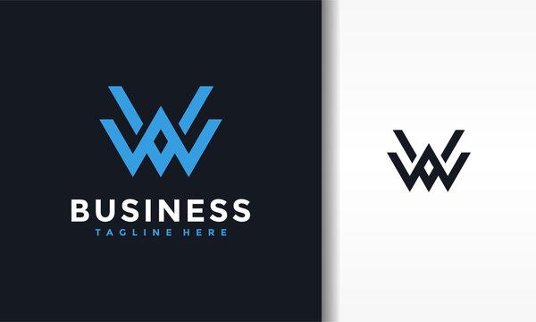 monogram lettering WW logo