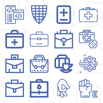 16 pack of module  lineal web icons set