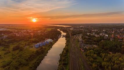 Fototapeta Kanał gliwicki o zachodzie