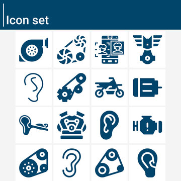 Simple set of sensory related filled icons.