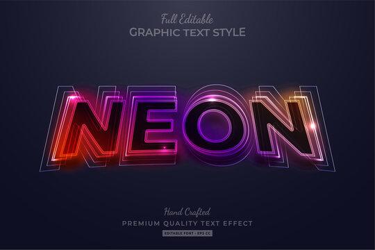 Gradient Neon Editable Text Style Effect Premium