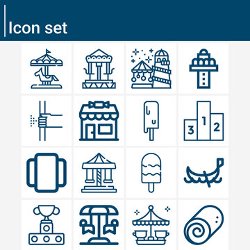 Simple set of tuning related lineal icons.
