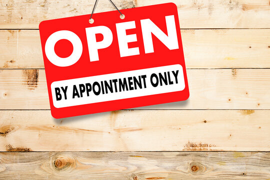 Open By Appointment Only concept