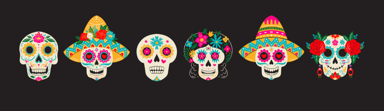 Dia de Los Muertos, Day of the Dead or Mexico Halloween