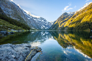 Lake Marian in New Zealand