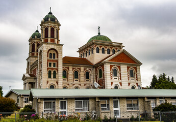 Roman catholic basilica of Sacred Heart in Timaru in the New Zealand