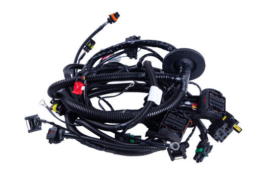 New car wiring to replace in the car on a white background.