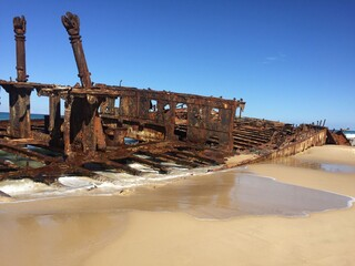 old abandoned ship wreck