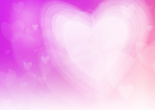 A background image created by overlapping various heart shapes to express a dreamy atmosphere. Printable in A3 size