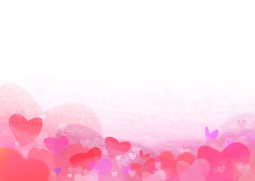 A background image made of various heart shapes. Printable in A3 size