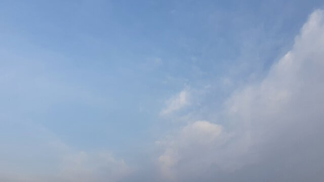 Image of the blue sky in autumn with clouds.