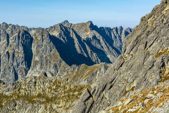 Late summer landscape of Tatra peaks.