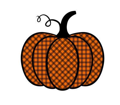 Buffalo Plaid pumpkin
