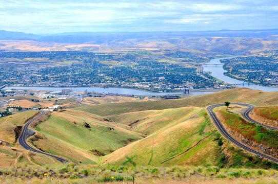 Lewiston Idaho view from Lewiston Hill Overlook