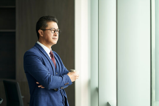 portrait of a senior asian business manager